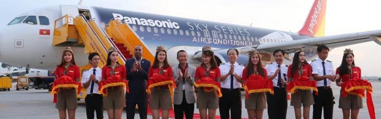 Panasonic kết hợp Vietjet Air ra mắt dòng sản phẩm mới