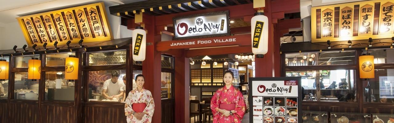 Oedo Alley, nơi hội tụ tinh hoa của ẩm thực Nhật Bản