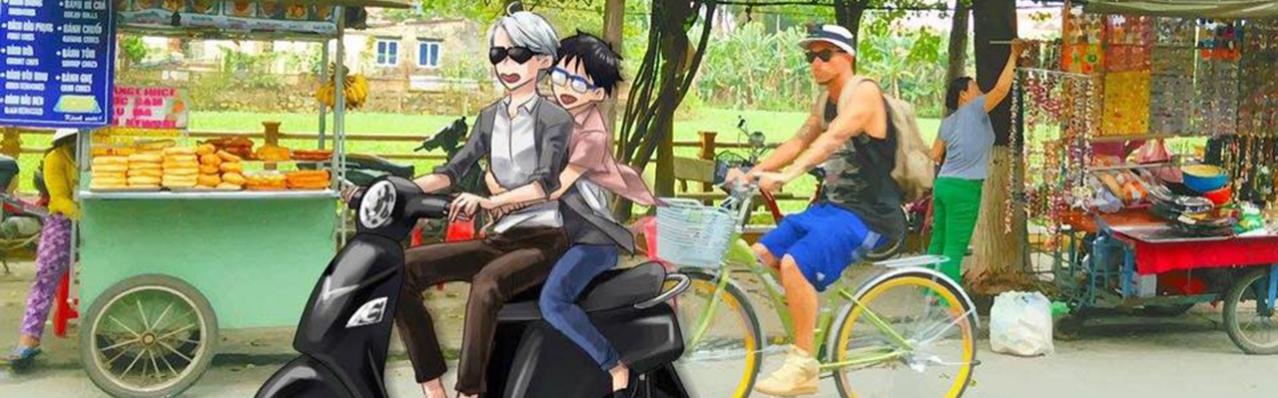 Bộ ảnh nhân vật chính anime Yuri!!! on Ice tại Việt Nam