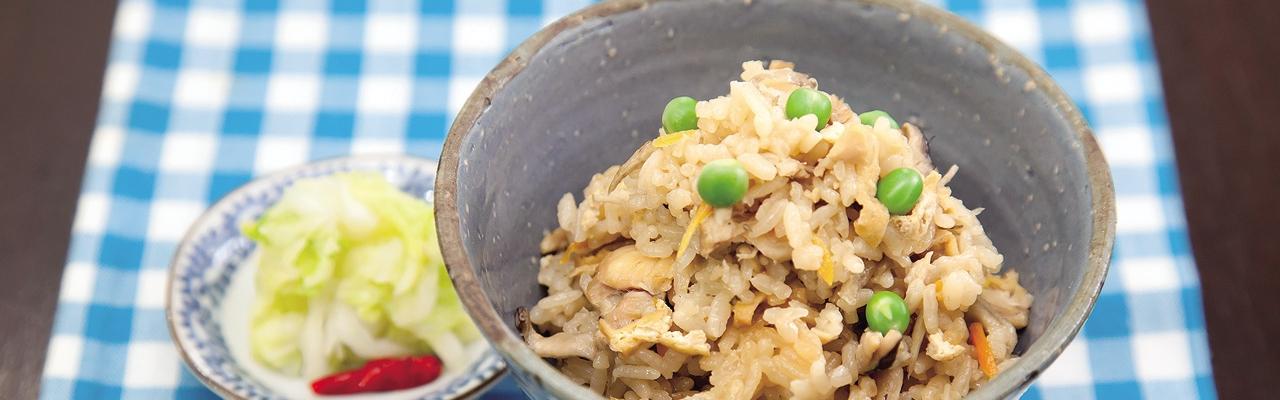 Cơm gà nấu rau củ kiểu Nhật