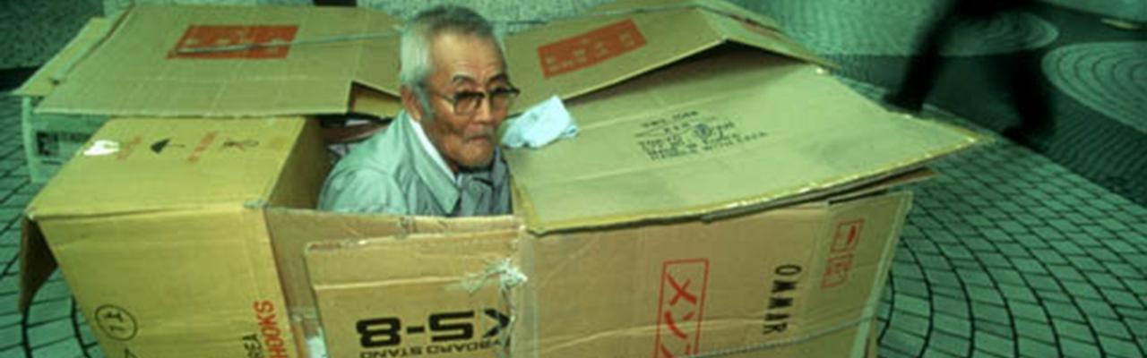 """Cuộc sống """"trong hộp"""" của người vô gia cư"""