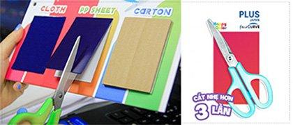 sản phẩm PLUS Japan: cắt nhẹ hơn 3 lần