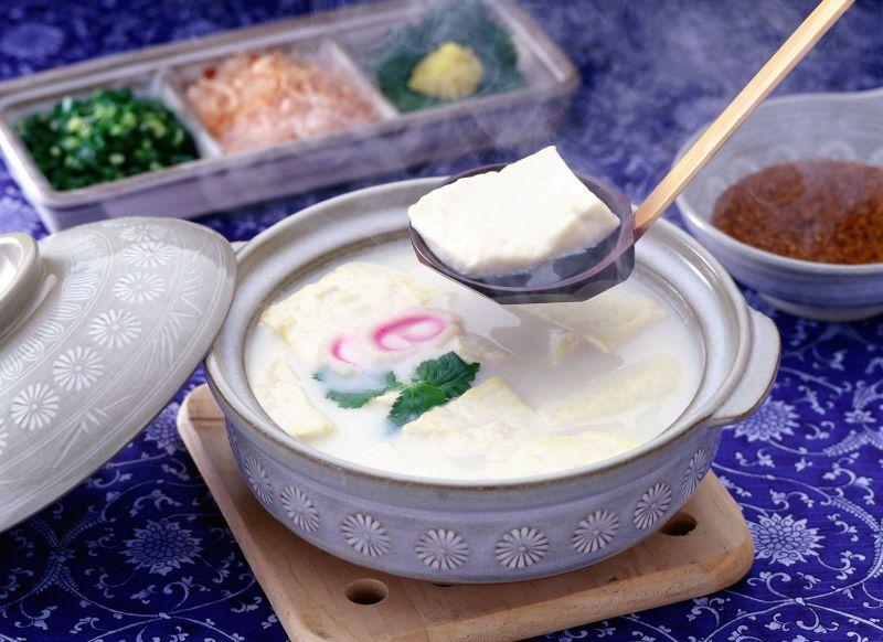đậu phụ luộc ureshino onsen