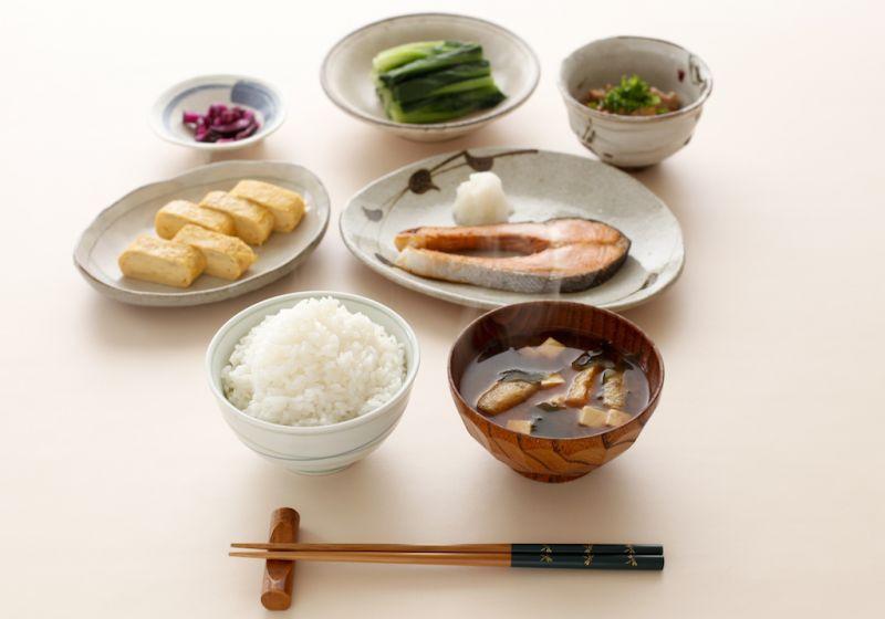 Bữa ăn sáng điển hình của người Nhật