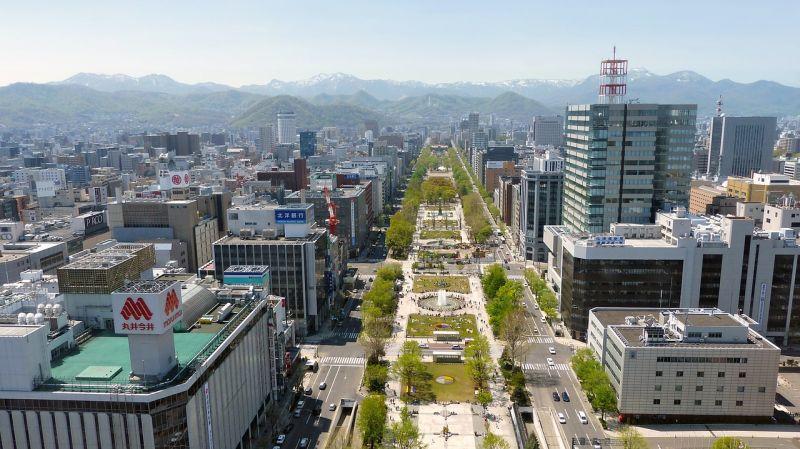 Sapporo nhìn từ toàn cảnh