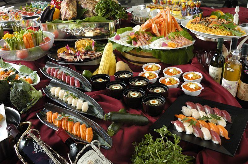 食べ放題のbuffet