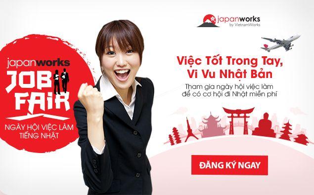 Cơ hội nhận vé đi Nhật miễn phí  tại Japanworks Job Fair