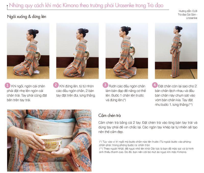 mặc Kimono trà đạo