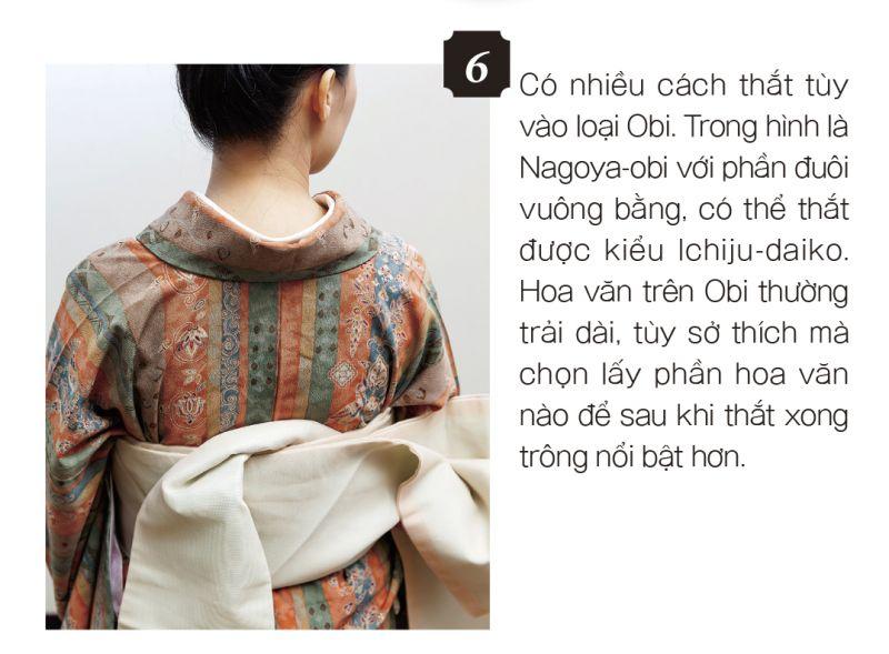 mặc Kimono bước 6