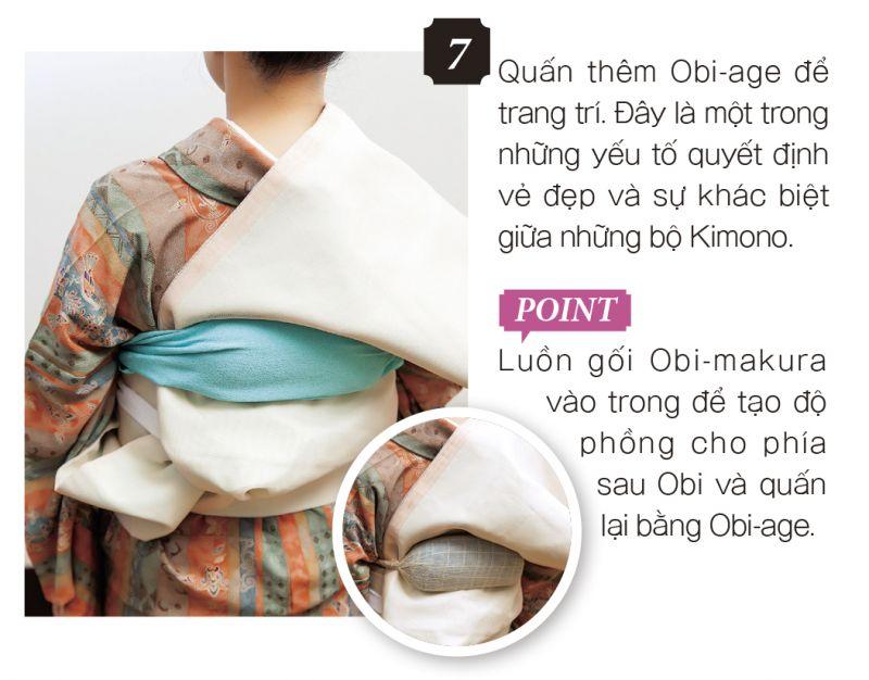 mặc Kimono bước 7