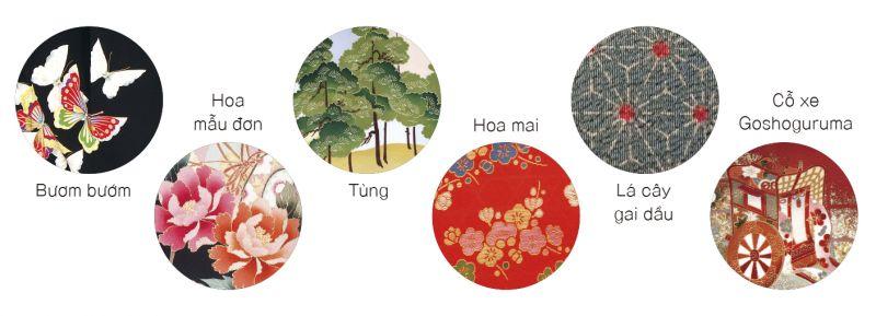 hoa văn Kimono