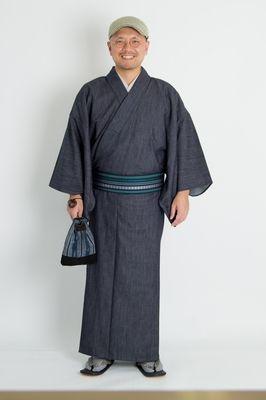 Kimono chất liệu Denim
