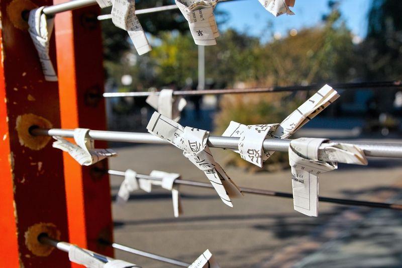 phong tục buộc giấy Omikuji vào năm mới