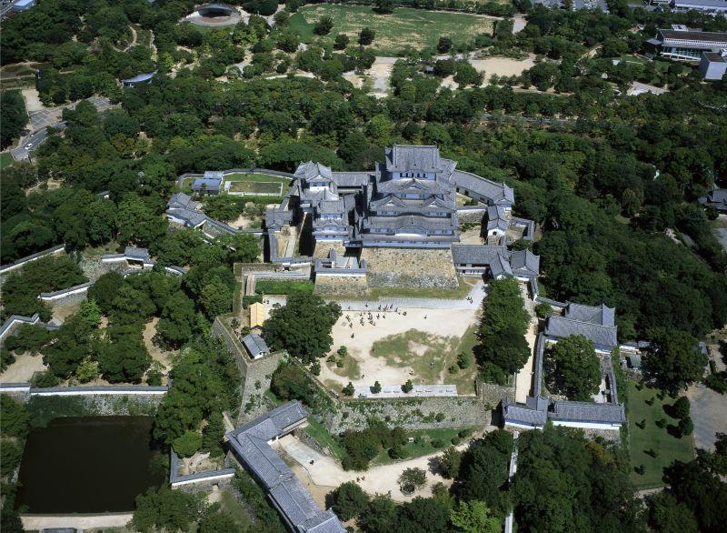 空から見た姫路城