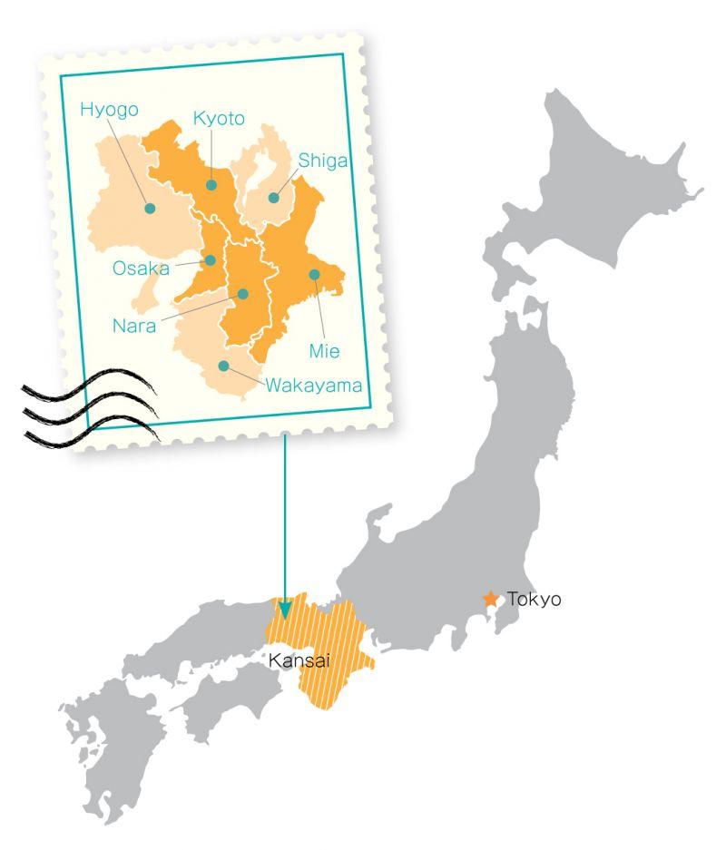 vùng Kansai Nhật Bản