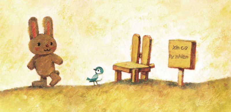ehon chiếc ghế tốt bụng