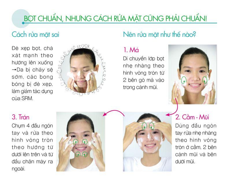 cách rửa mặt đúng