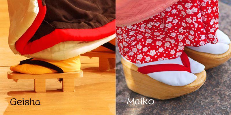 guốc gỗ Geisha và Maiko