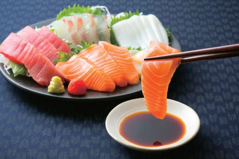 cách ăn Sashimi