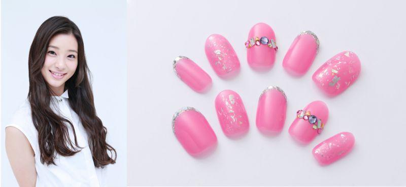 nail pink ribbon