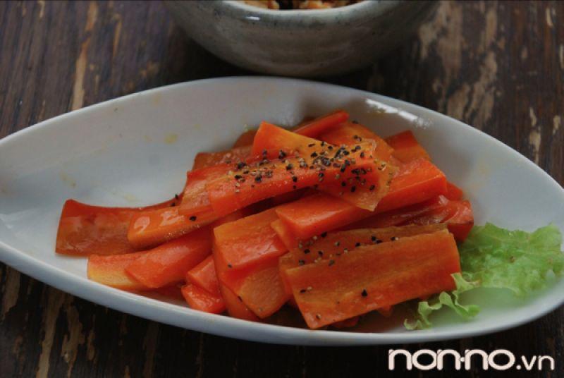 cà rốt hầm dầu dừa