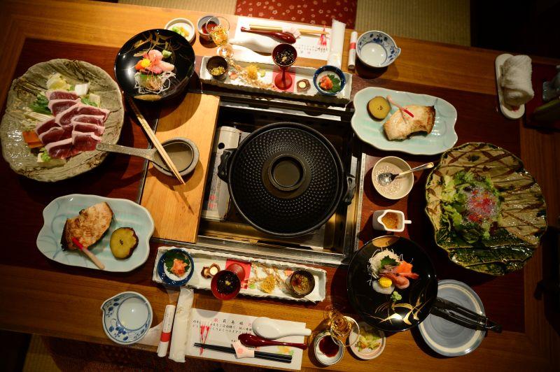 bữa ăn Washoku lữ quán Sanjiro Onsen