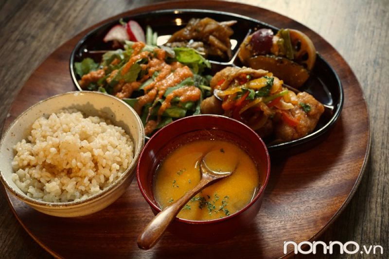 món ăn chay ở Tokyo