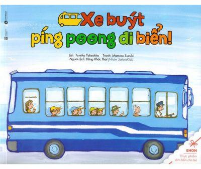 ehon xe buýt ping pong đi biển