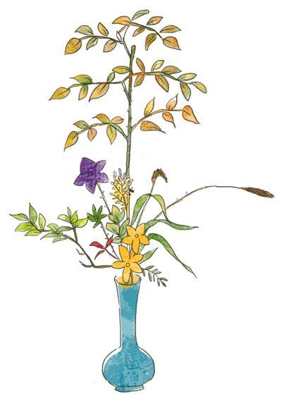 phong cách Tatehana trong Ikebana