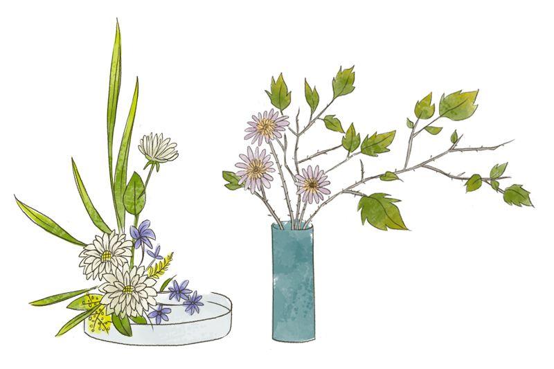 phong cách Moribana trong Ikebana