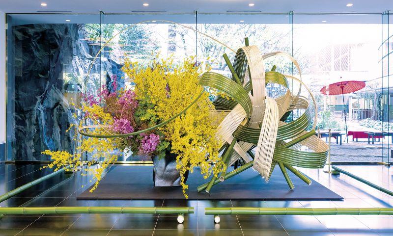 tác phẩm Ikebana của nghệ nhân Akane Teshigahara