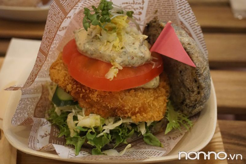 hamburger chay vị cá