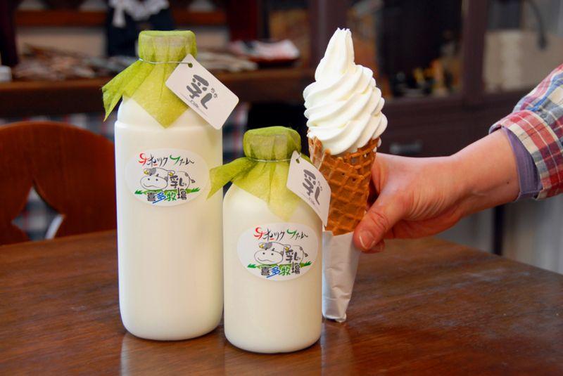 新鮮な牛乳&ソフトクリーム