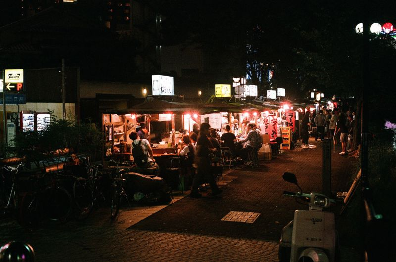 Yatai ở Nakasu Fukuoka