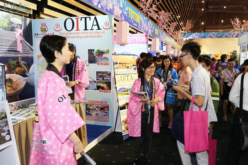 Gian hàng giới thiệu du lịch của tỉnh Oita