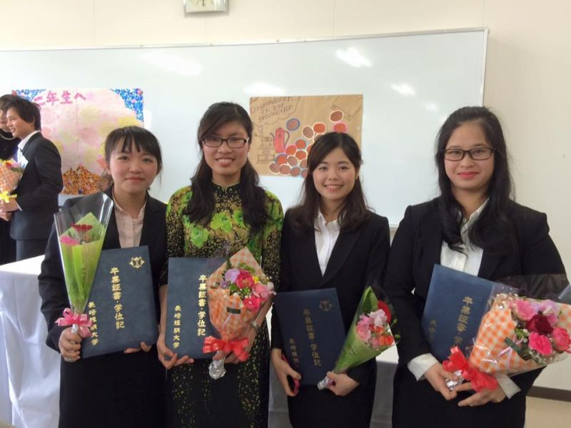 Thu Trang ngày tốt nghiệp Cao đẳng Nagasaki