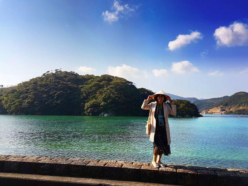 Thùy Linh tại đảo Goto