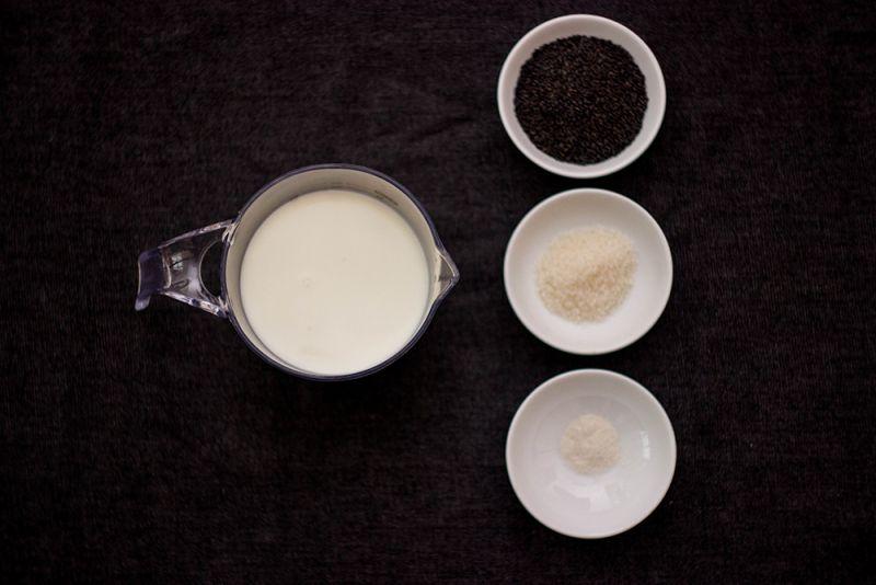 pudding mè đen