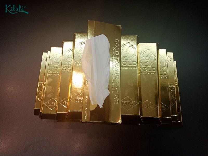 Khăn giấy thỏi vàng