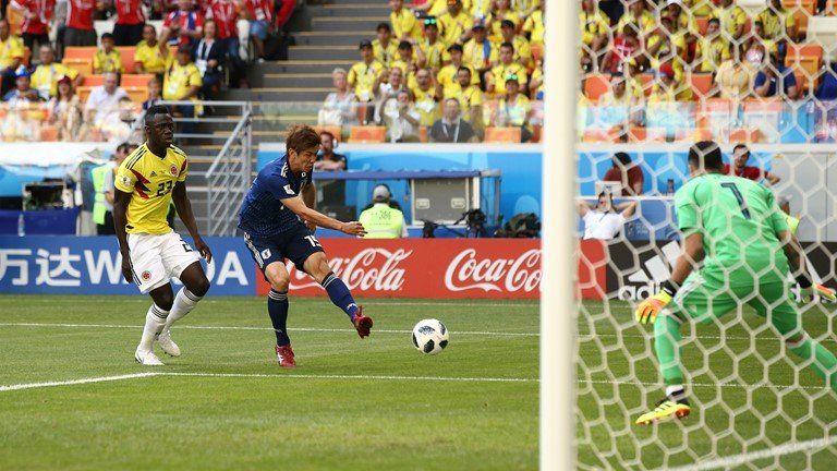 Nhật Bản giành chiến thắng Colombia