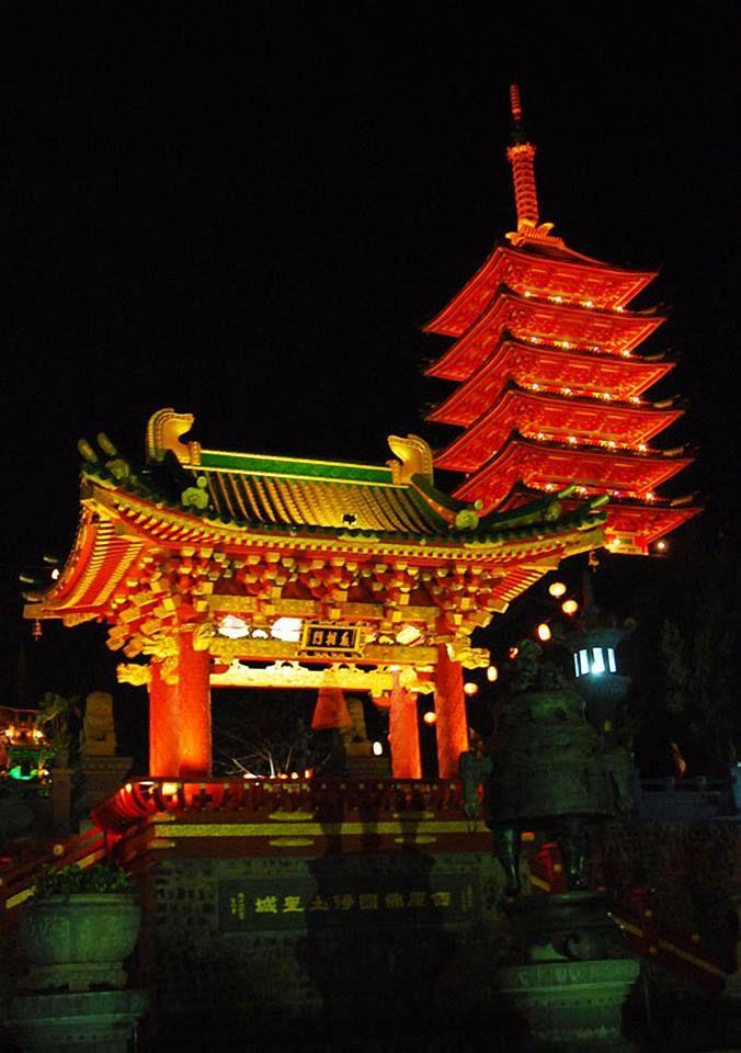 Chùa Minh Thành về đêm