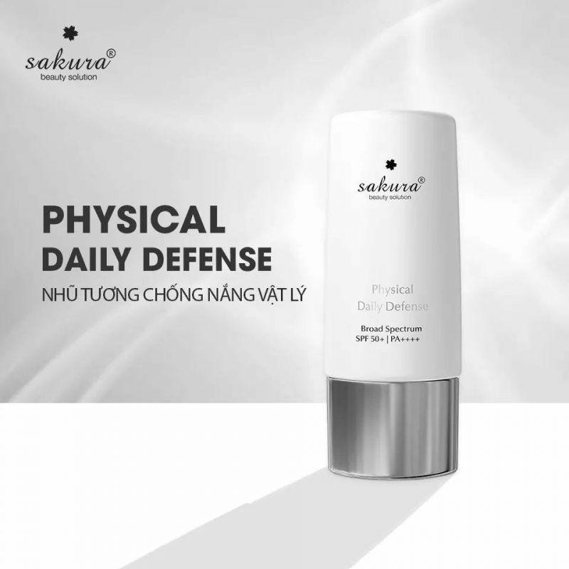 日焼け止め「Sakura Physical Daily Defense」