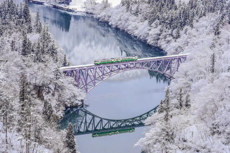 Tohoku có tuyết rơi khá nhiều vào mùa đông