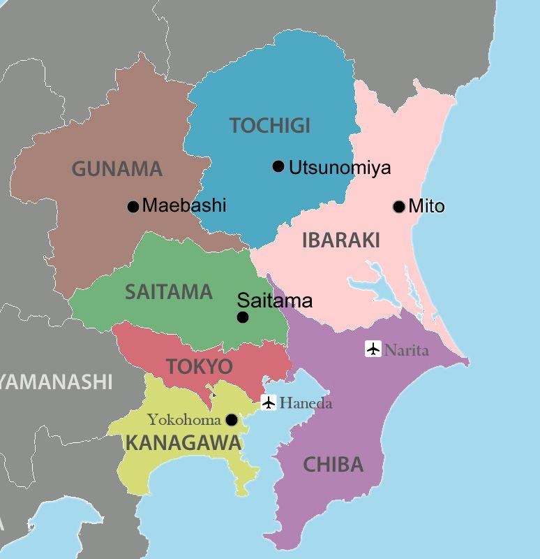 Bản đồ tỉnh Chiba