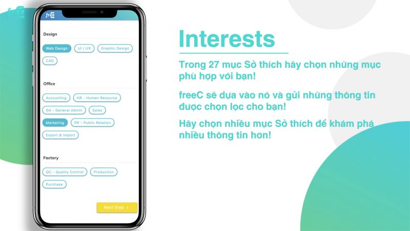 Chọn Interests