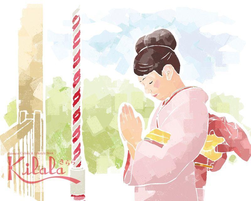viếng thăm Thần điện cầu mong sự bình an và hạnh phúc