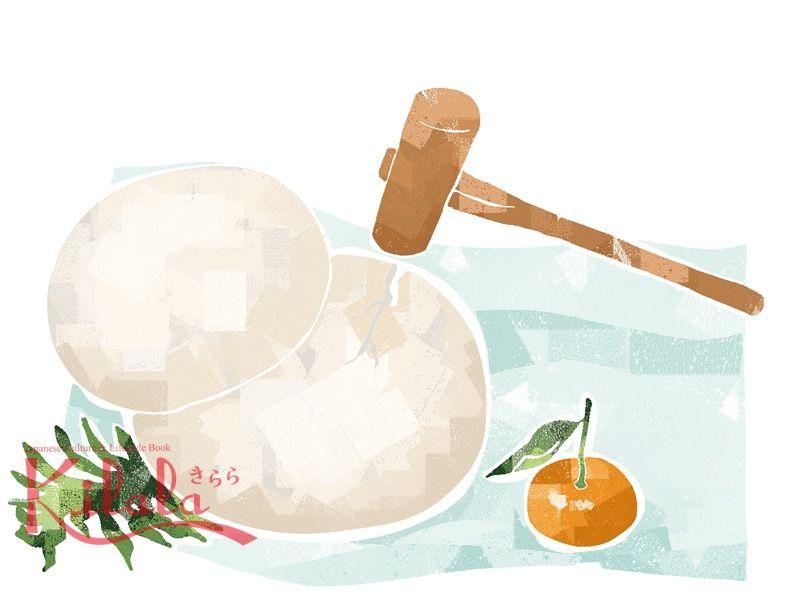 bánh dày kagami dùng để mời Thần linh
