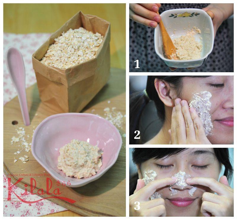scrub yến mạch cho da mặt
