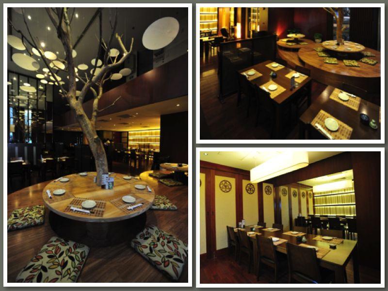 nội thất nhà hàng sushi dining AOI