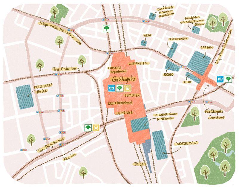 bản đồ mua sắm Shinjuku